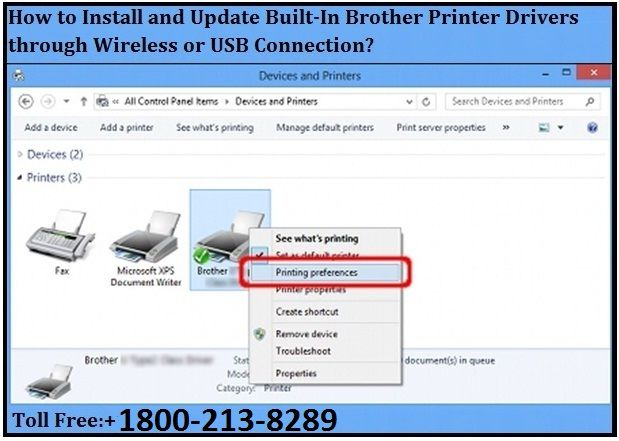 Install and Update Built-In Brother Printer Drivers through Wireless