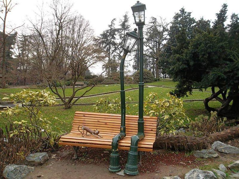 Les lampadaires amoureux du parc valentino turin funny pinterest dr le street art - Semaine du mobilier chez made in design jusqua ...
