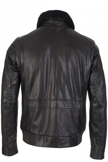 7428cd43a Hugo Boss Leather Jacket Glerrick in Sheepskin » Men's Designer ...