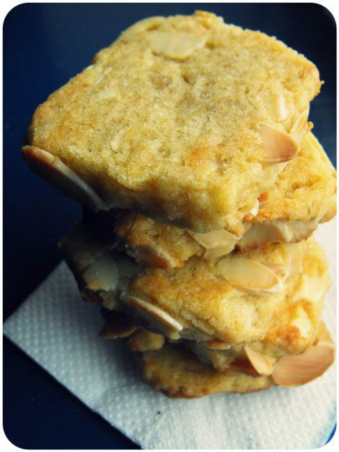 vegan almond and orange blossom refrigerator cookies.