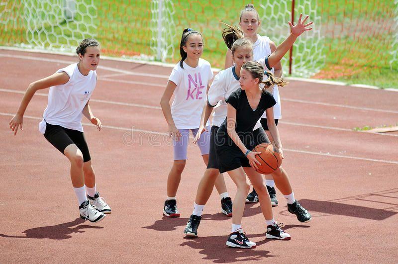 Girls Play Basketball Outside Girls And Women Play Basketball During Sports Day Aff Women Sports Days Girls Pl Girls Play Sports Day Sports Women