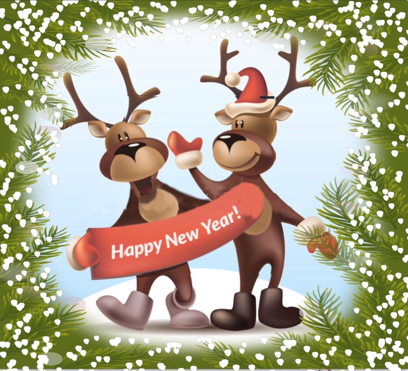 Happy new year hecho con marcos navide os para decorar - Marcos para decorar ...