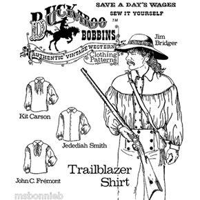 Men's 1700s-Civil War Trailblazer Shirt - Buckaroo Bobbins Sewing Pattern XS-6X