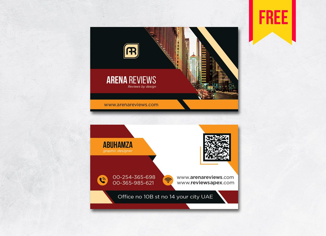 Building business card design psd free download