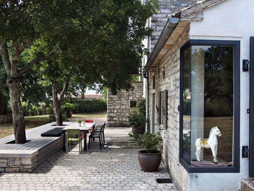 Wundervoll Terrassengestaltung Ideen Beispiele Beste Wahl Mit Grauen Wpc Massivdielen Auf Sitzfläche/bank Vor