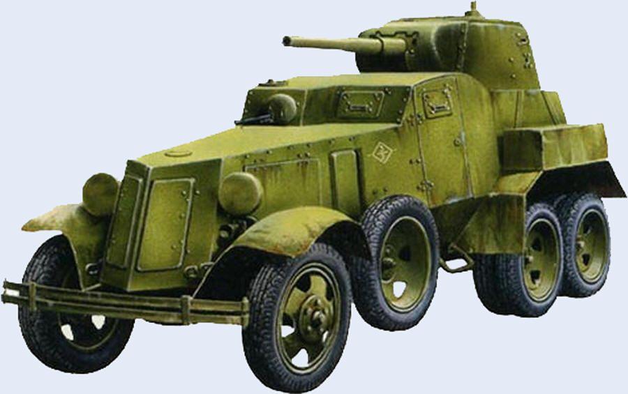 БА-10 – советский средний пушечный бронеавтомобиль