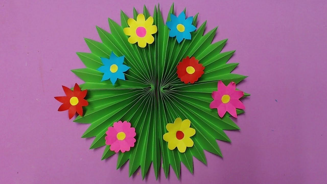 How To Make Wall Decoration With Color Paper Papercraft