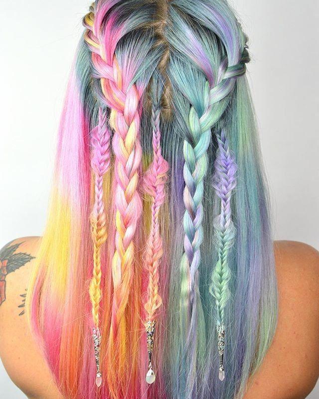 Pastel Watercolor Hair Hair Colour Design Hair Styles Hair