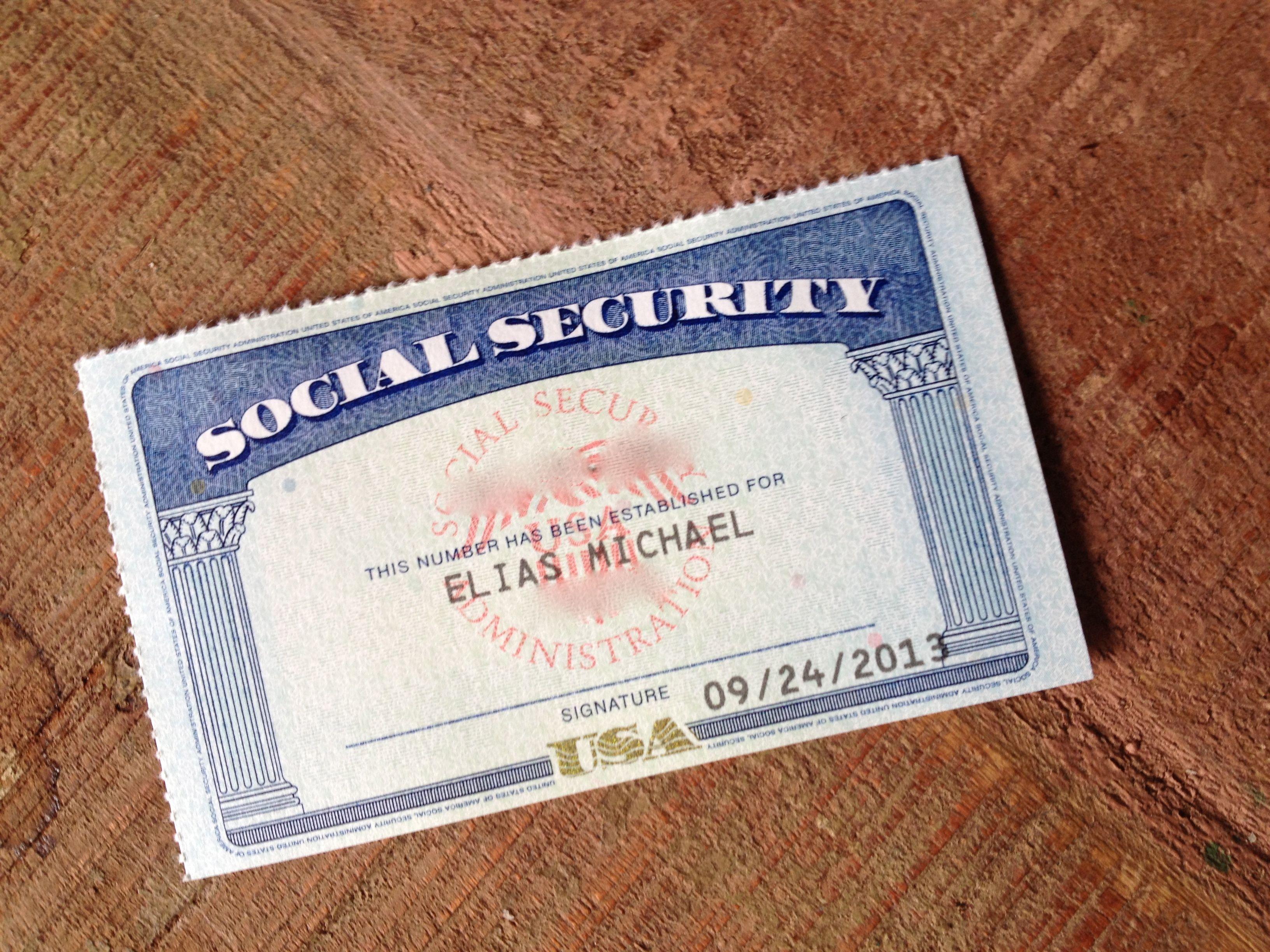 Home visa online social security card certificates online