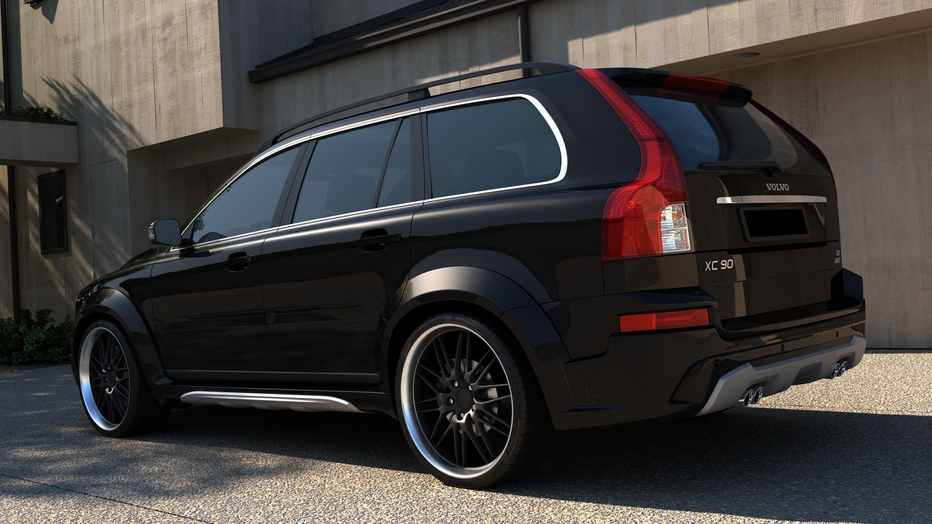 volvo xc90 wide bodykit passar xc90 fr n volvo. Black Bedroom Furniture Sets. Home Design Ideas