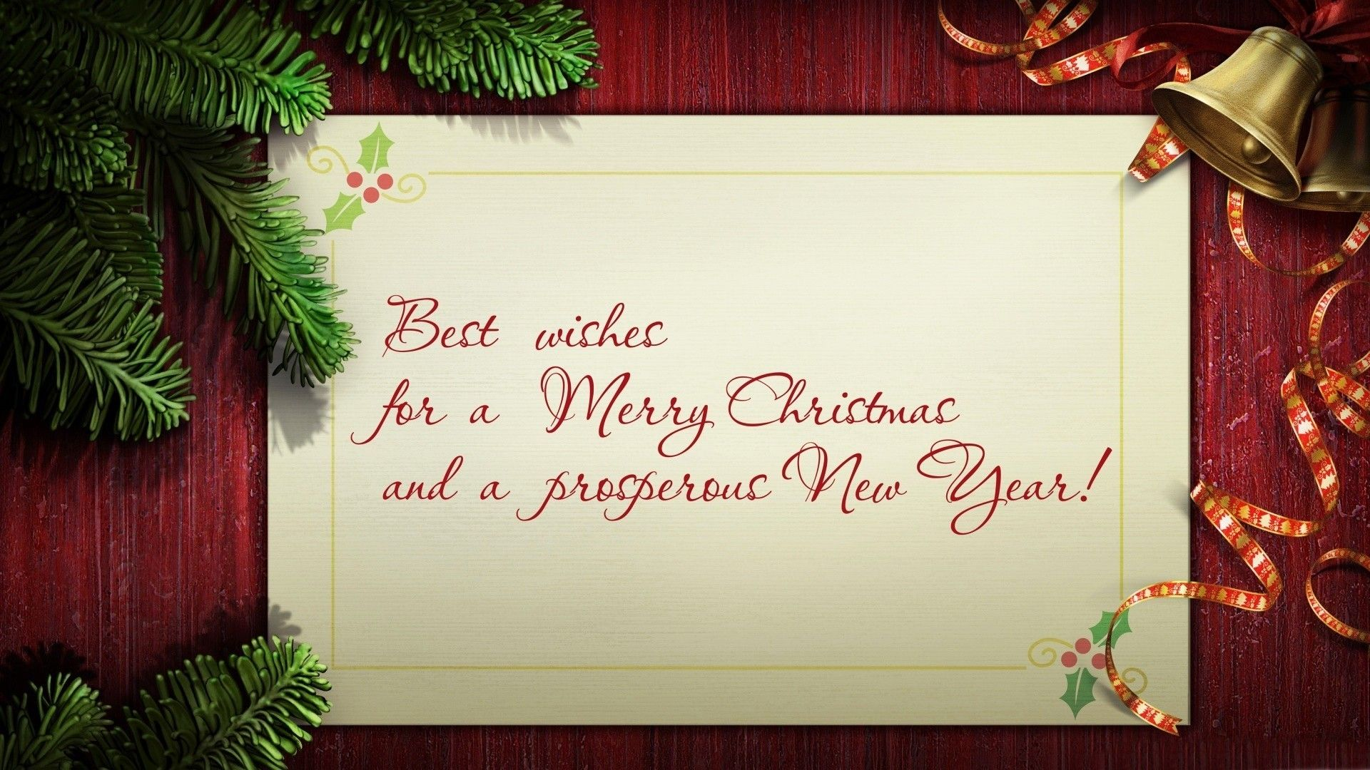 Merry Christmas Greetings Card Wallpaper HD