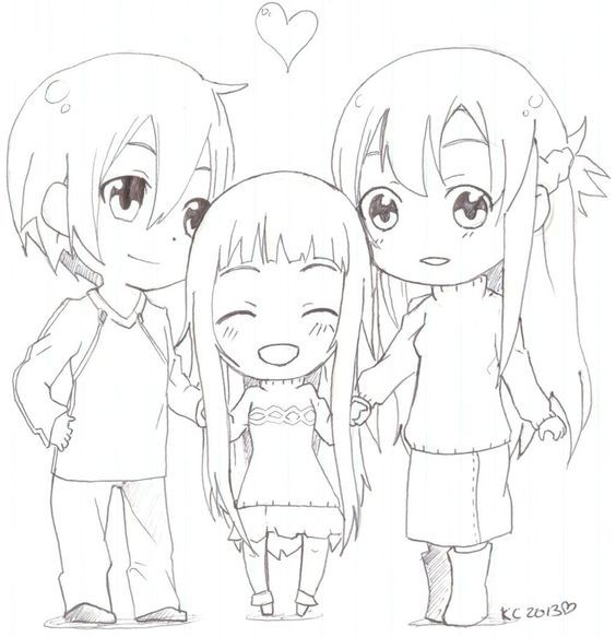 Sword Art Online coloring page: | Coloring pages | Pinterest | Sword ...