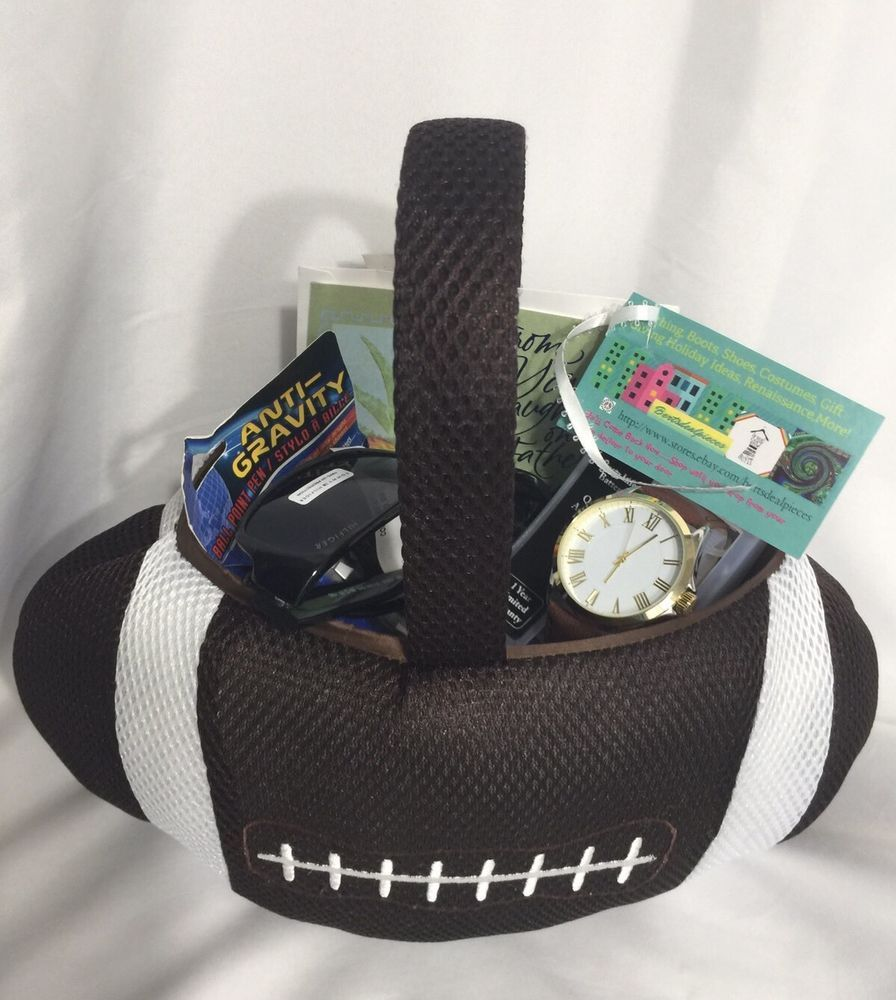 Football gift basket goodies watch tommy h sunglasses