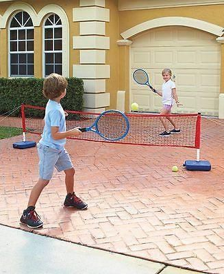 Genial Kids Outdoor Driveway Tennis Toy Game Set Parking Lot Portable Backyard