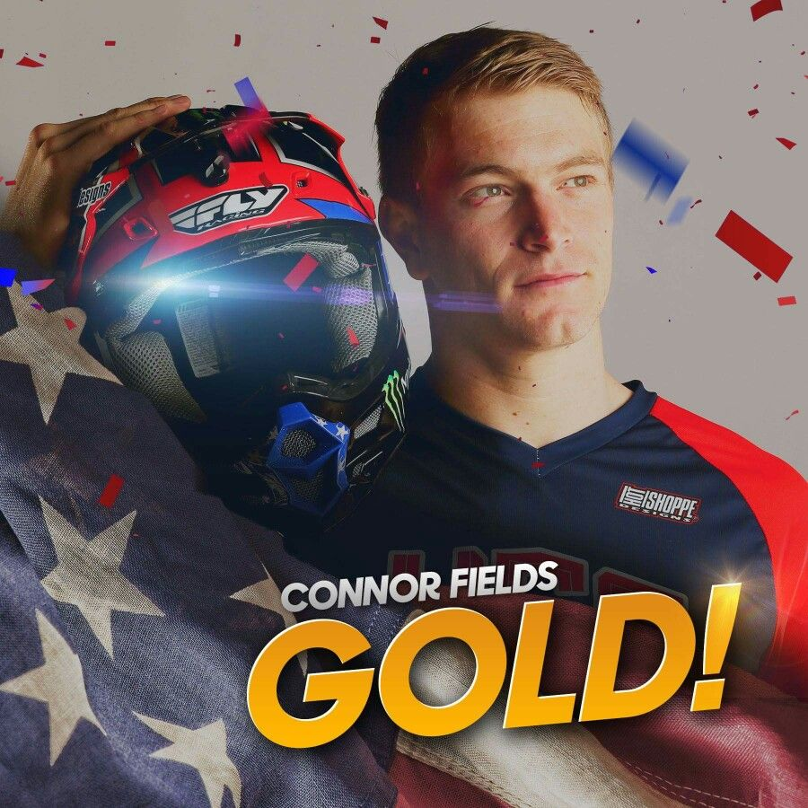 Connor Fields wins GOLD in BMX for Team USA! Rio2016
