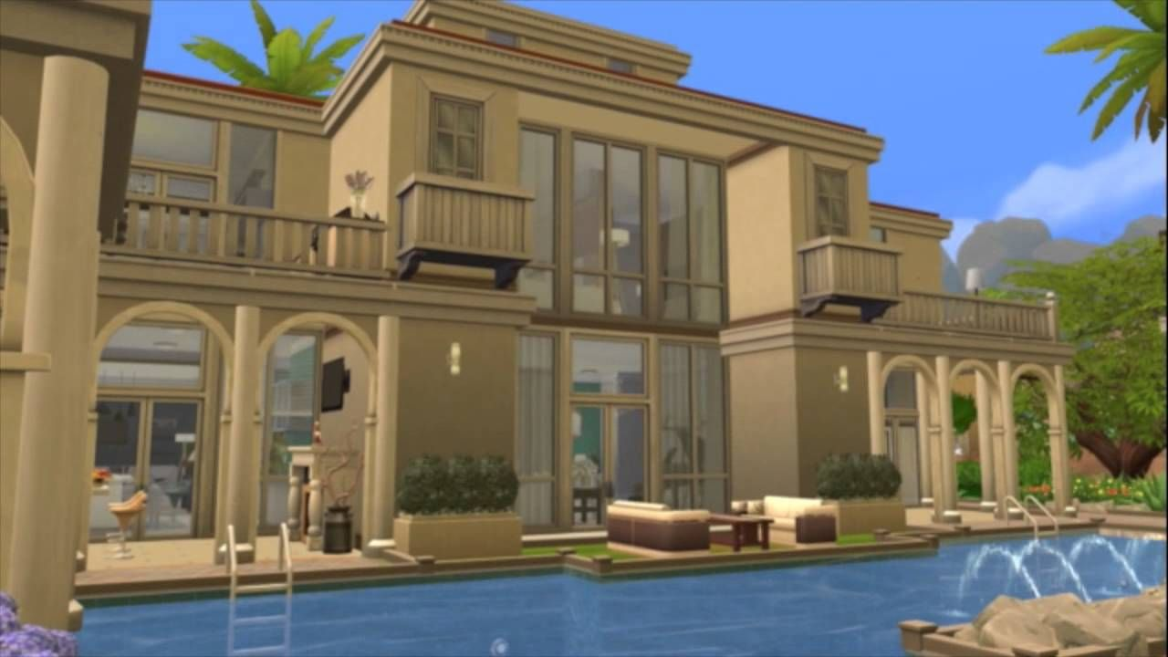 The Sims 4 Celebrity Mansion The Florida Heights Celebrity Mansions Mansions Celebrity Houses
