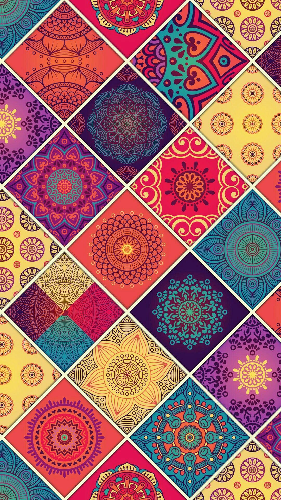 Wallpaper Lockscreen Mandala Cores Padroes De Papel De Parede