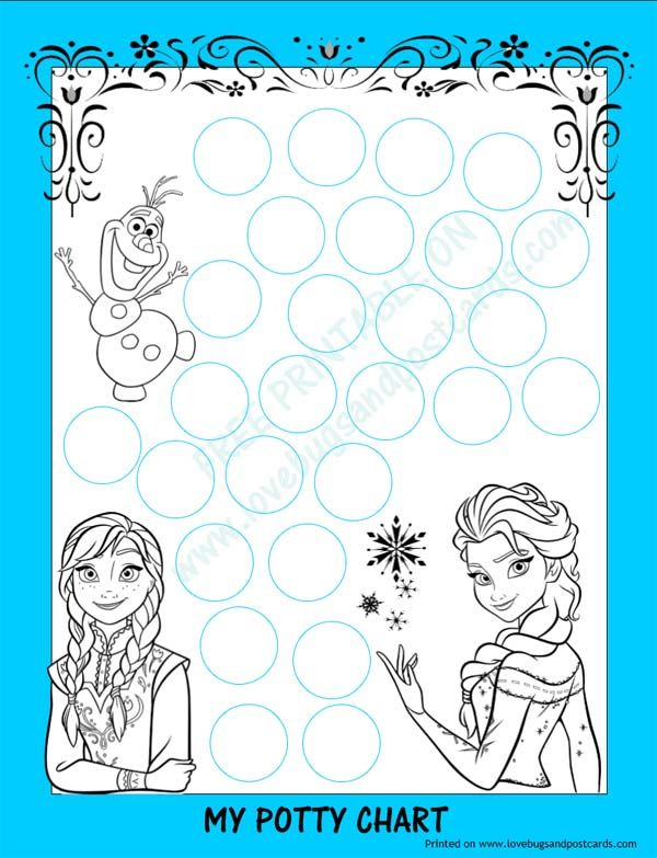 FROZEN Potty Chart {Free Printable} + Potty Training Tips Bloggers