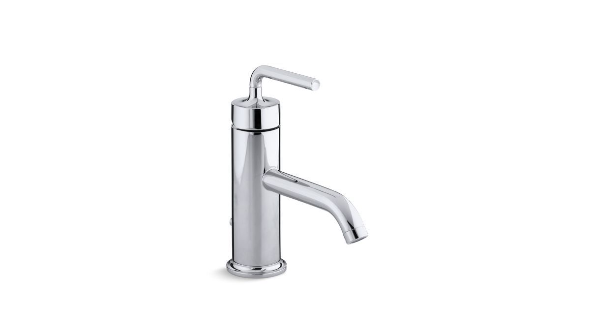 With a simple, minimalist design, the water-saving K-14402-4A faucet ...