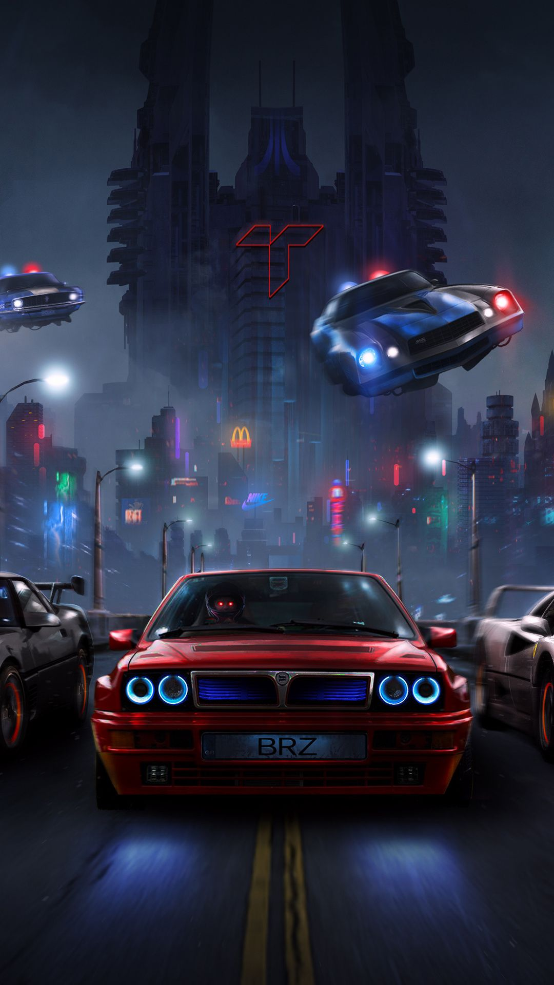 Racers Night Chase Cars 1080x1920 Wallpaper Futuristic Cars Car Wallpapers Street Racing Cars