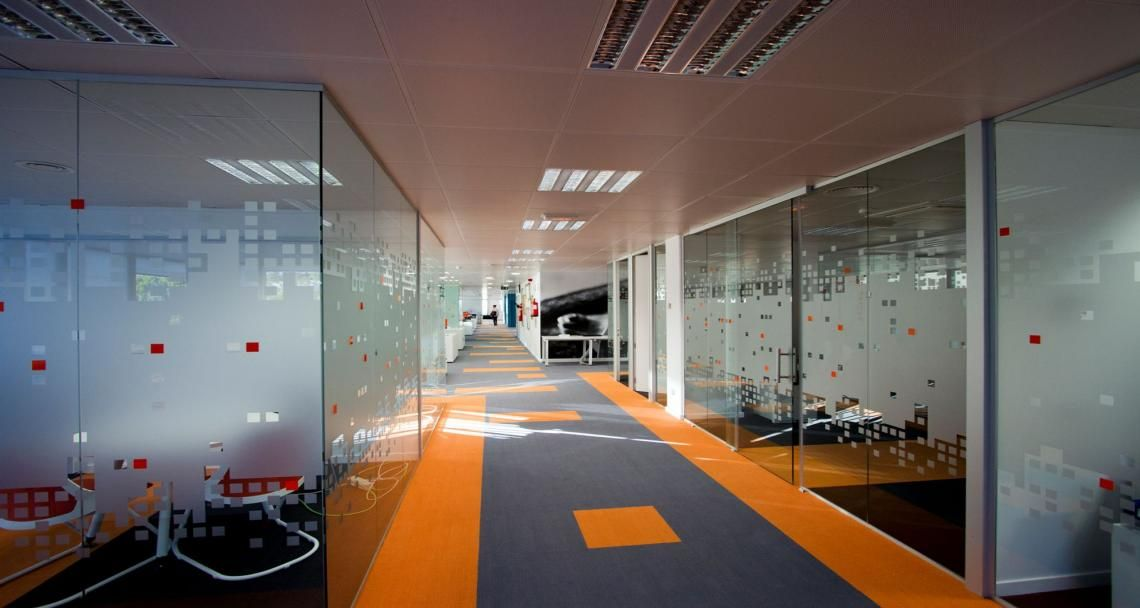 Circulation Into The Premises Of Amazon In Madrid Spain Room