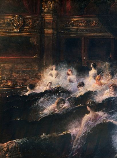 An Interval at the Opera  -   Georges Jules Victor Clairin ca.1900