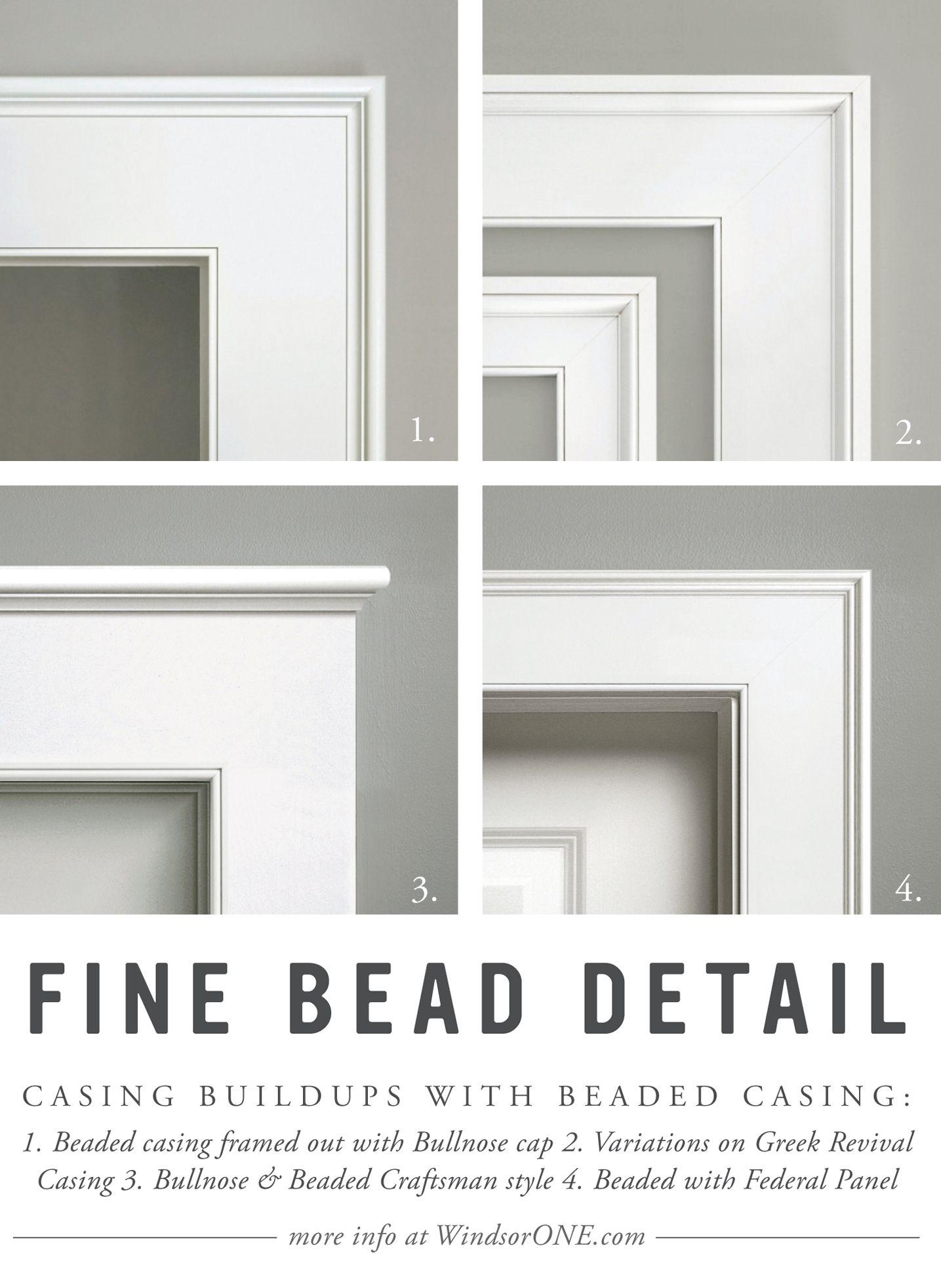 Beaded Casing Wood Trim Detail For Windows Doors More Windsorone Moldings And Trim Interior Window Trim Fireplace Trim
