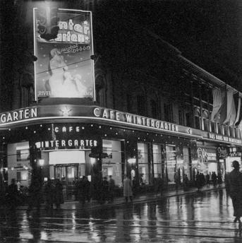 berlin 1930 caf wintergarten bei nacht friedrichstrasse ecke dorotheenstrasse berlin mon. Black Bedroom Furniture Sets. Home Design Ideas