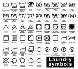 Universal Laundry Symbol Meanings Laundry Symbols Laundry Care