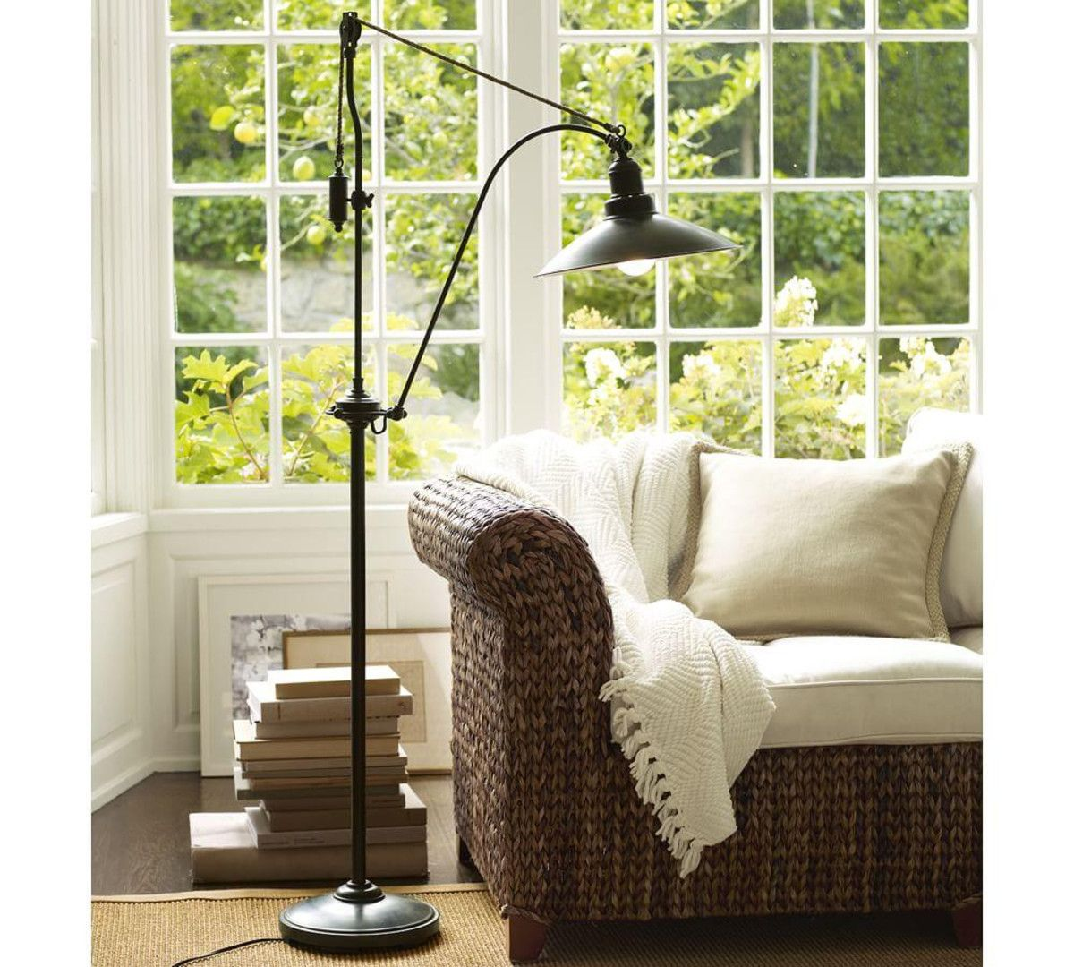Glendale pulley task floor lamp hearth and home floor lamp