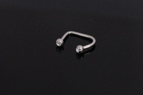 Lippy Loop Double CZ Barbell Body Piercings Barbell by BodyKandie