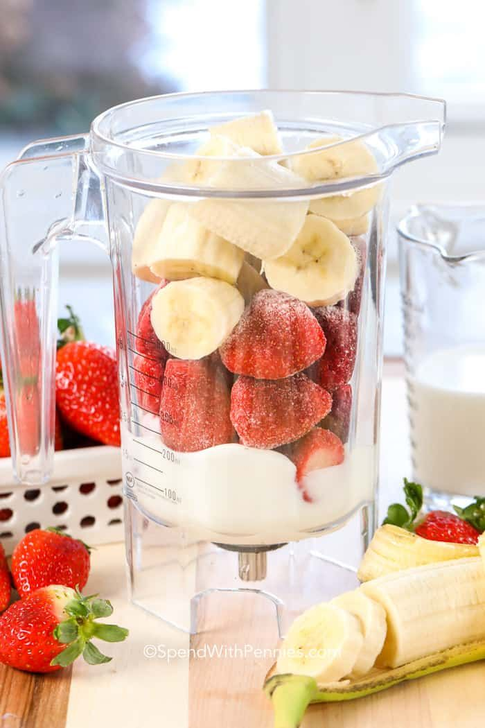 Strawberry Banana Smoothie - Spend With Pennies