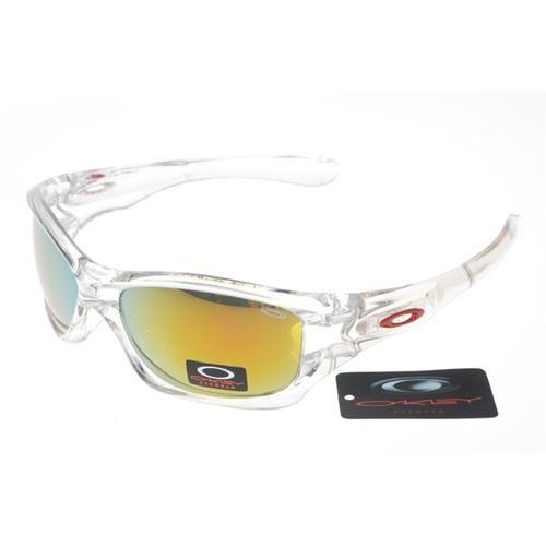 9e816902bb Oakley Fives Squared Rectangular Sunglasses Clear Frame and Yellow Iridium