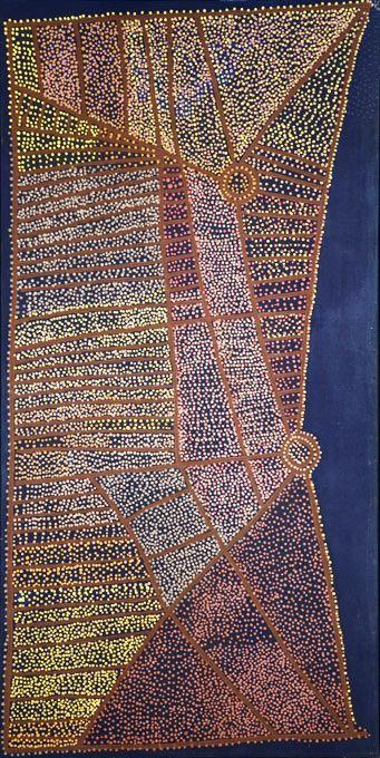 Shorty Jangala Robertson   Shorty Robertson JANGALA_Rêve de l\'Eau_Art aborigene australien