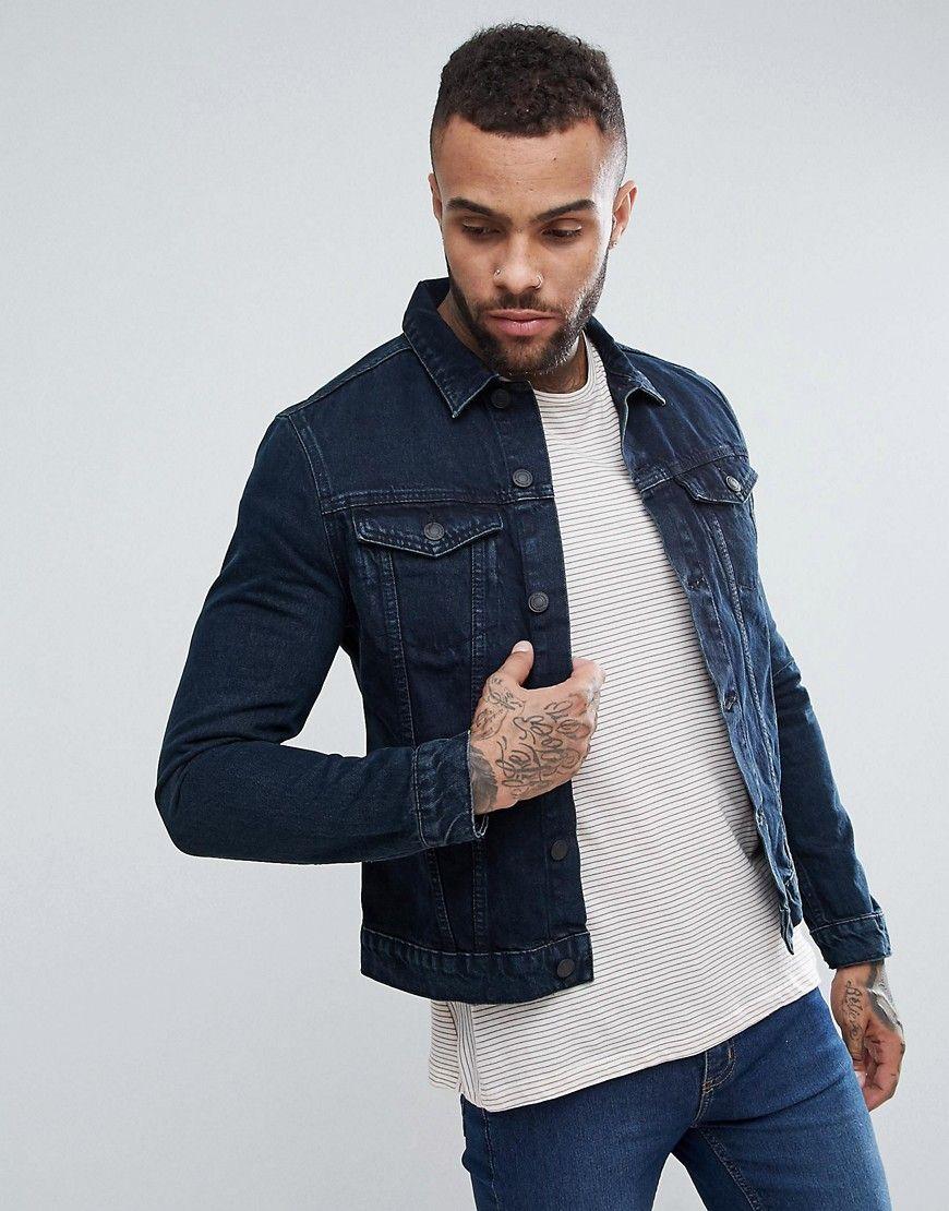 fbaca6408b5d New Look Denim Jacket In Dark Blue Wash - Blue | Secretssss ...