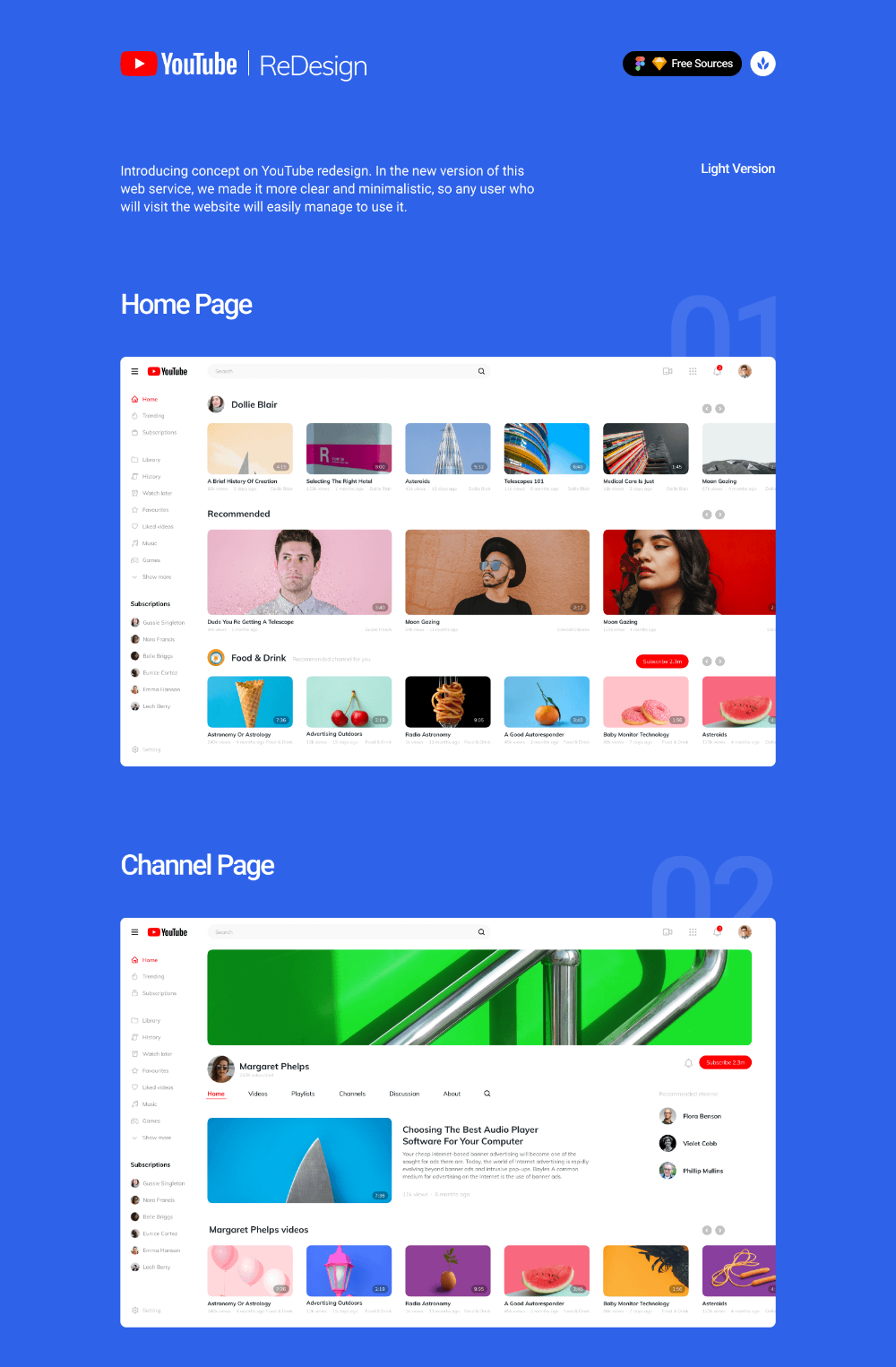 Youtube System Design : youtube, system, design, YouTube, Redesign, Concept, Uistore.design, Apps,, Interface