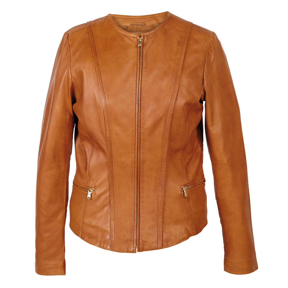 ladies leather jacket no collar Google Search Leather