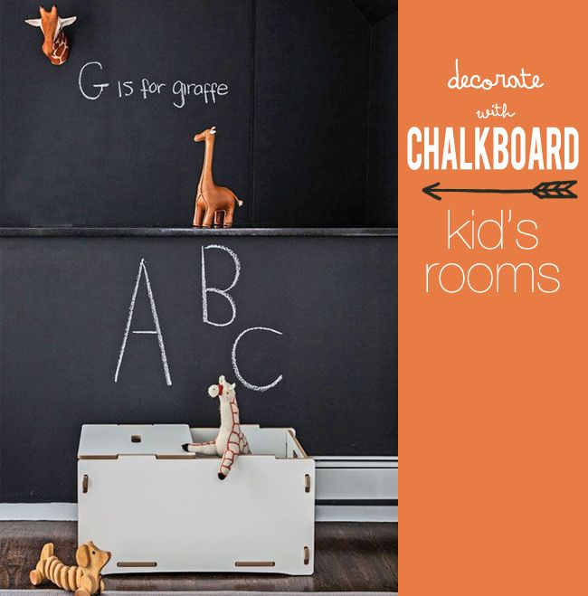 Pepper and Buttons: chalkboard in kid's rooms