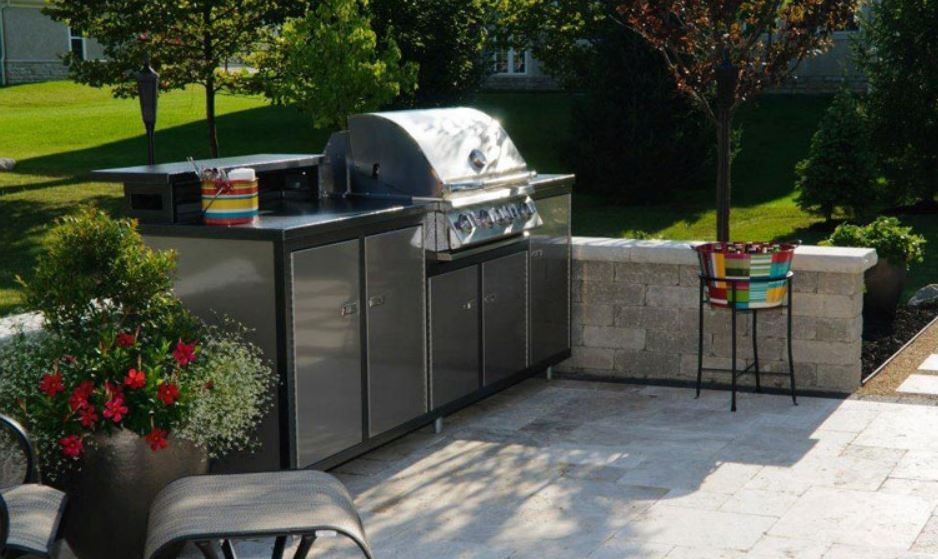 challenger chq5cha luxury prefab outdoor kitchen with fire magic legacy charcoal grill with smoker oven grill