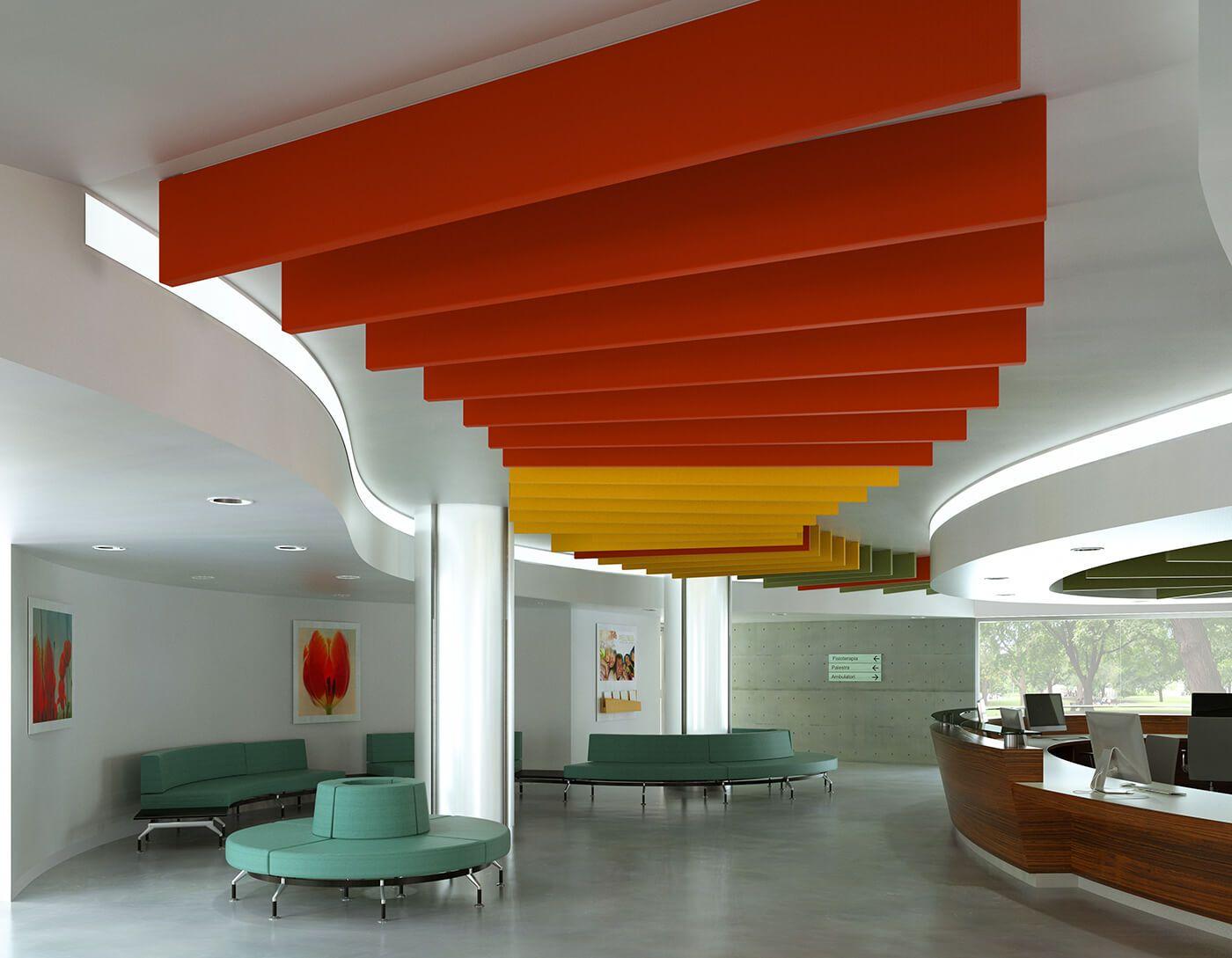 Ospital Acoustic comfort, Flag sound absorbing panels