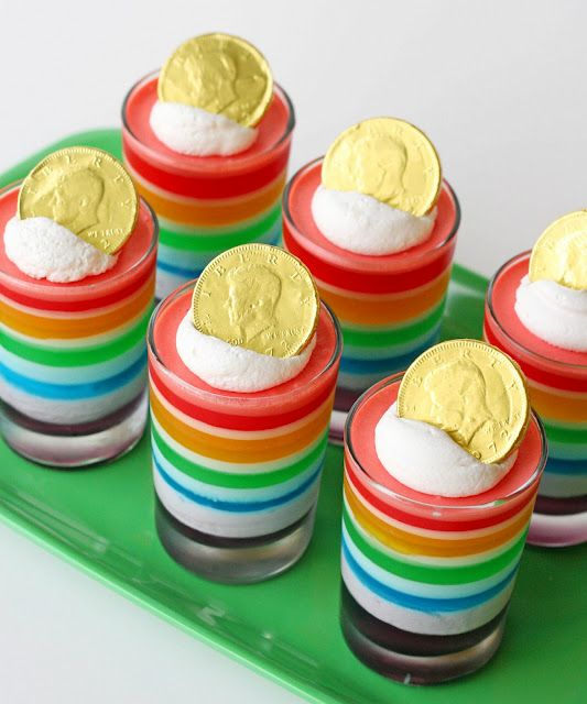 Lucky Rainbow Jello @Glory - {Glorious Treats}