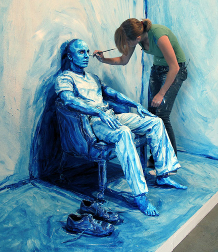 photos of painted people that look like paintings art i love
