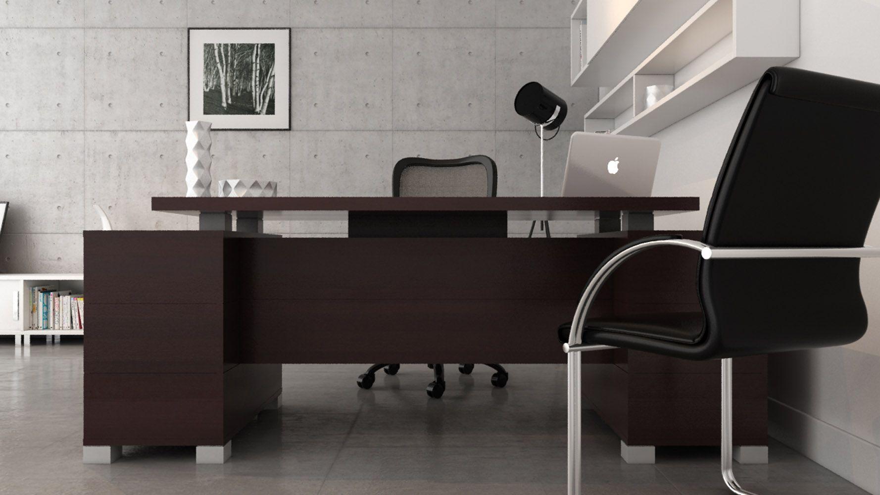 Ford Desk Dark Office Furniture Modern Home Office Furniture