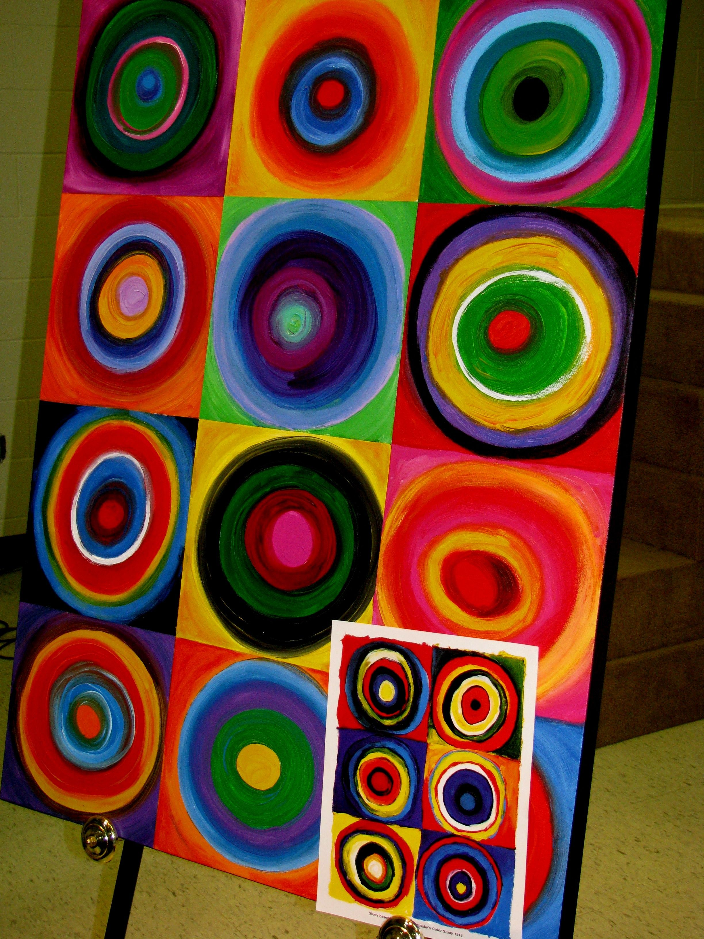 Created By Middle School Students Following A Unit On Kandinsky Sold During Art Show Auction