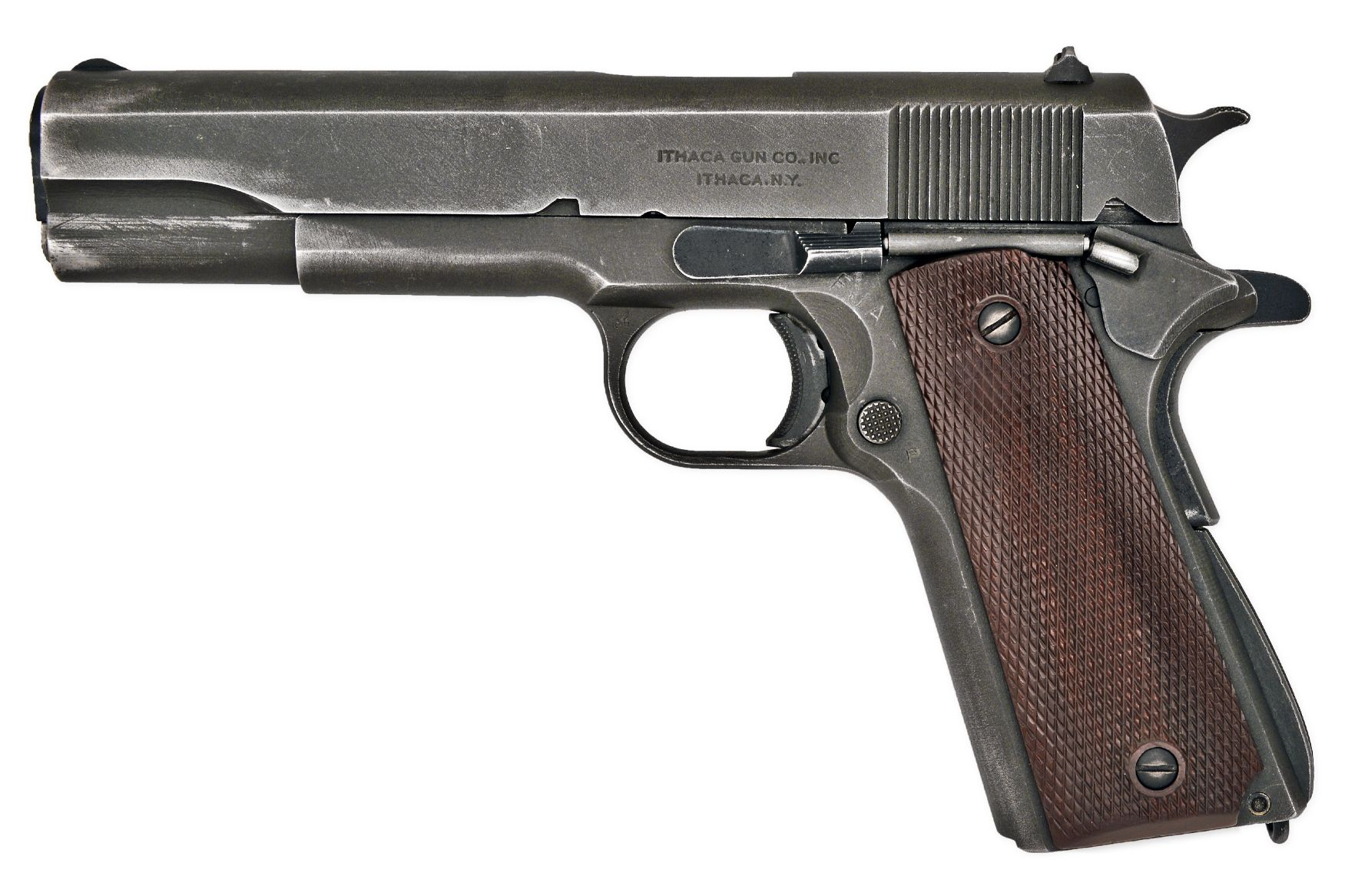 Anatomy-Pistol-US-M1911A1 WWII 1911 Ithaca  45ACP COLT