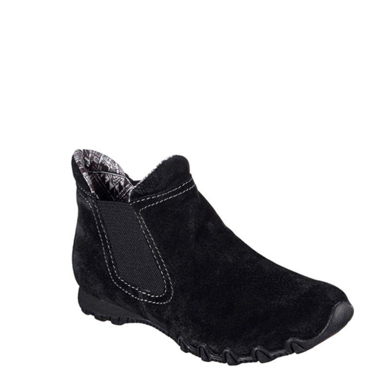 Boots, Black ankle boots, Skechers women