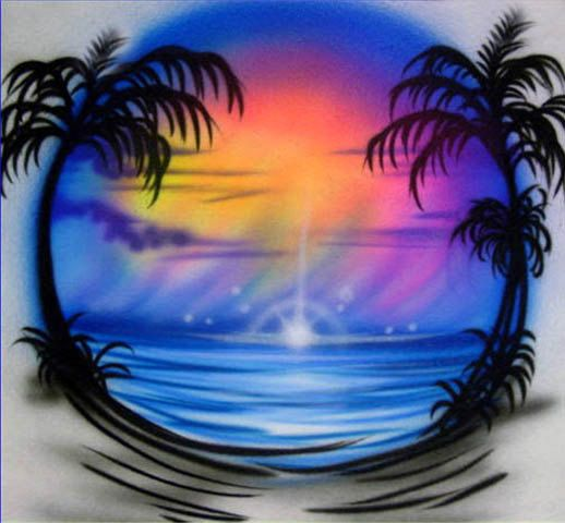 Custom Airbrush T-Shirts. $25.00, via Etsy.