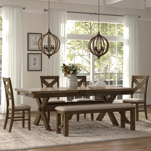 Poe Extendable Dining Set Dining Room Design Farmhouse Dining Dining Room Remodel