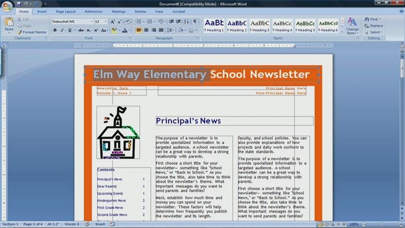 how to make a newspaper in microsoft word 2007 office pinterest