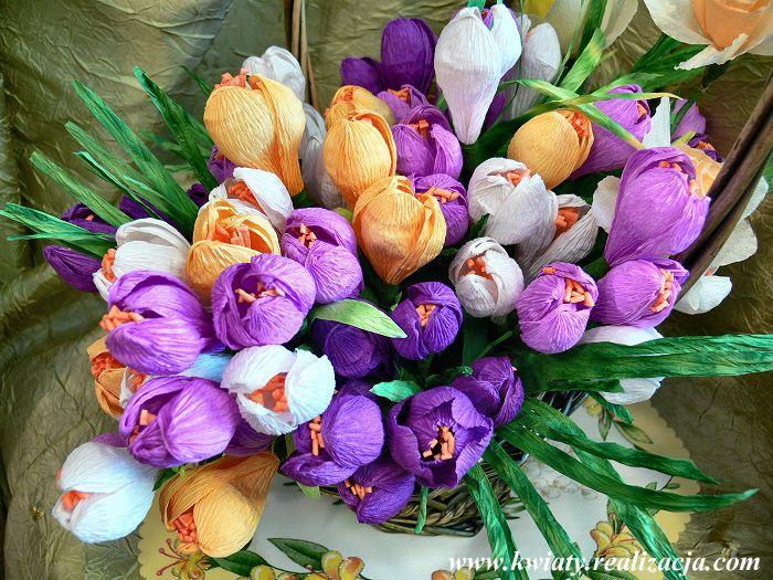 Krokus Instruktaz Najpiekniejsze Kwiaty Z Bibuly Maria Czupryna Paper Flowers 3d Paper Flowers